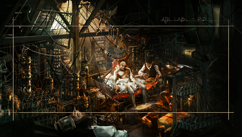 Frankenstein's Lab - jonathan mcgonnell - concept art ...