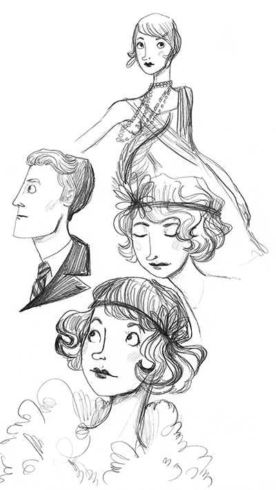 the great gatsby character sketches Arriving amidst much excitement is a series of sketches by prada for their collaboration with costume designer catherine martin on the great gatsby vogue exclusively broke the.